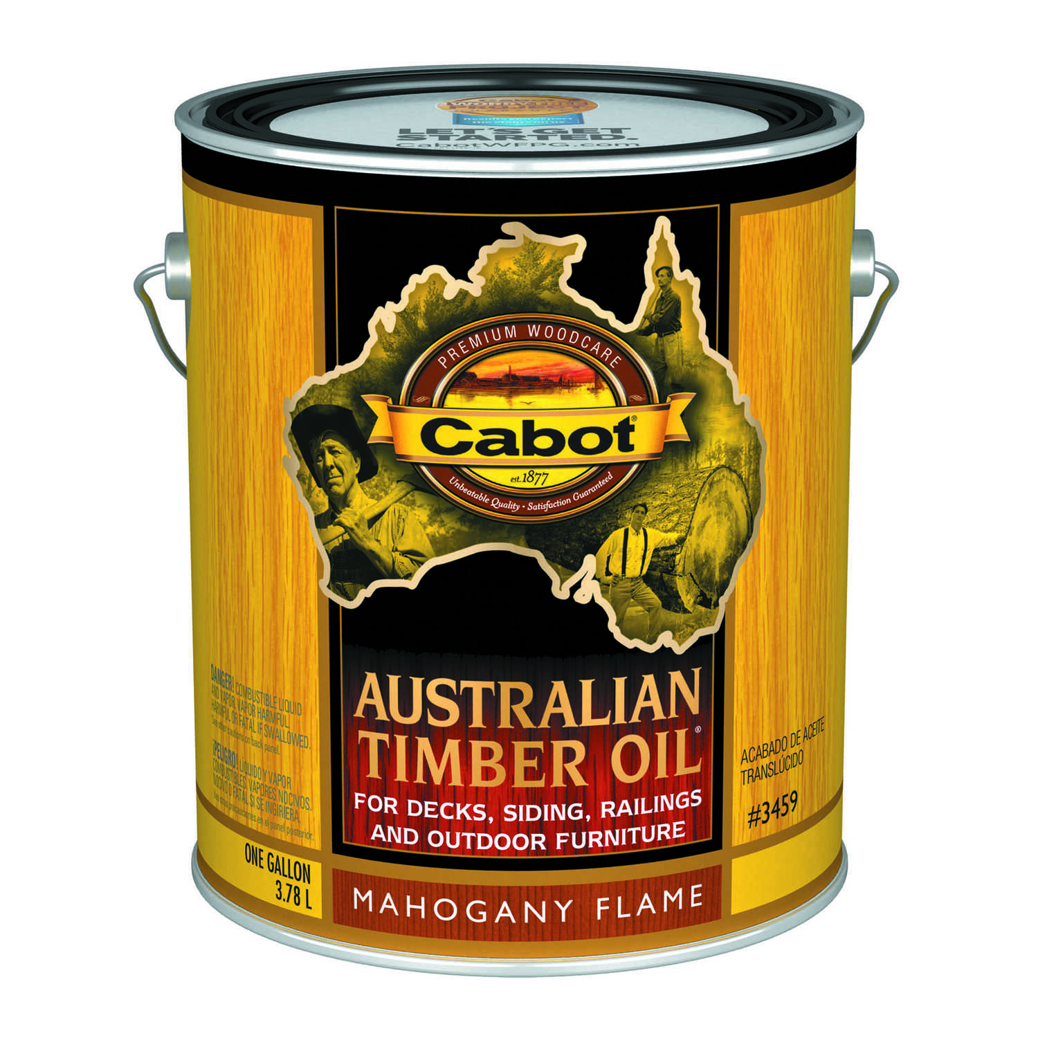 Cabot  Transparent  Mahogany Flame  Oil-Based  Penetrating Oil  Australian Timber Oil  1 gal.