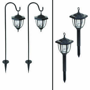 Living Accents  Solar Powered  LED  Dual Use Coach Style Light  2 pk