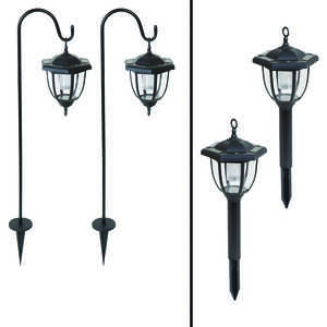 Living Accents  LED  Dual Use Coach Style Light  2 pk Solar Powered