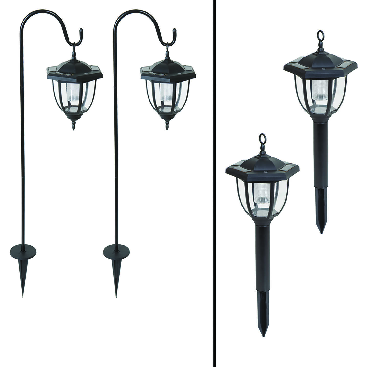 Living Accents LED Dual Use Coach Style Light 2 Pk Solar