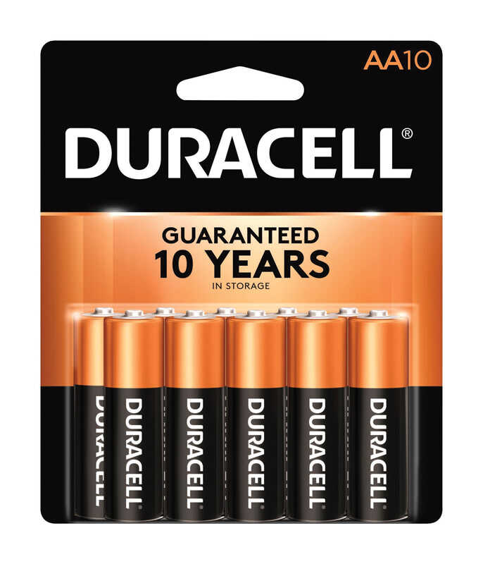 Duracell  Coppertop  AA  Alkaline  Batteries  10 pk Carded