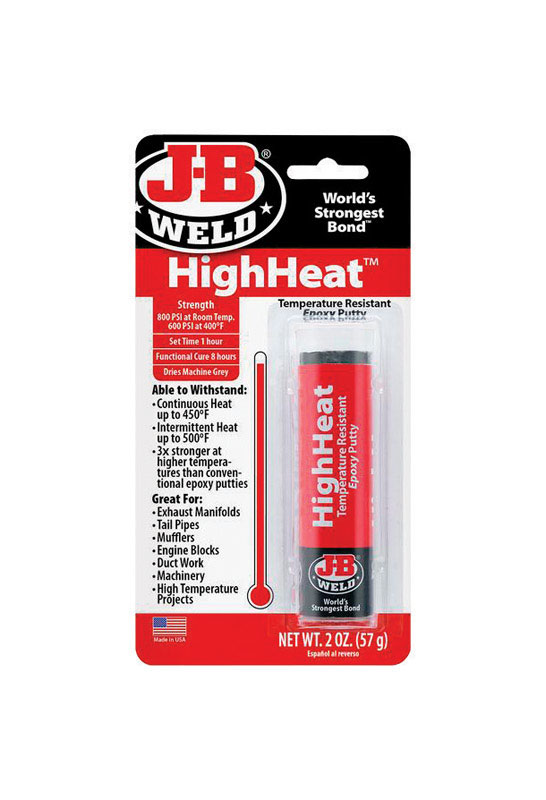 J B Weld High Heat High Strength Putty Automotive Epoxy 2 Oz Ace