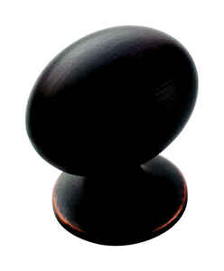 Amerock  Allison  Oval  Cabinet Knob  1-3/8 in. Dia. 1-3/8 in. Oil Rubbed Bronze  10 pk