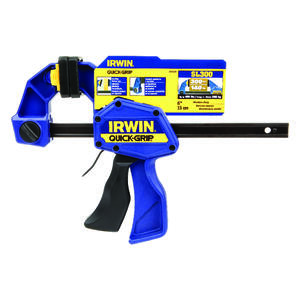 Irwin  Quick-Grip  6 in.  x 3-1/2 in. D Bar Clamp  300 lb.