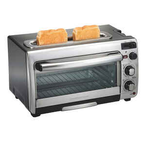 Hamilton Beach  Black/Silver  Convection Toaster Oven  12.05 in. H x 17.8 in. W x 10.24 in. D