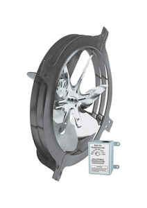 Air Vent  18 in. H x 17.8 in. W x 7.3 in. L x 15 in. Dia. Steel  Gable Mount Power Fan