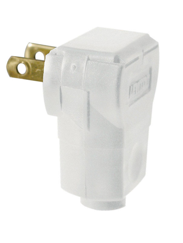 Leviton Commercial and Residential Plastic Non-Polarized Plug 1-15P ...
