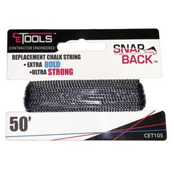 CE Tools  SnapBack  Braided  Replacement Chalk String  50 ft.