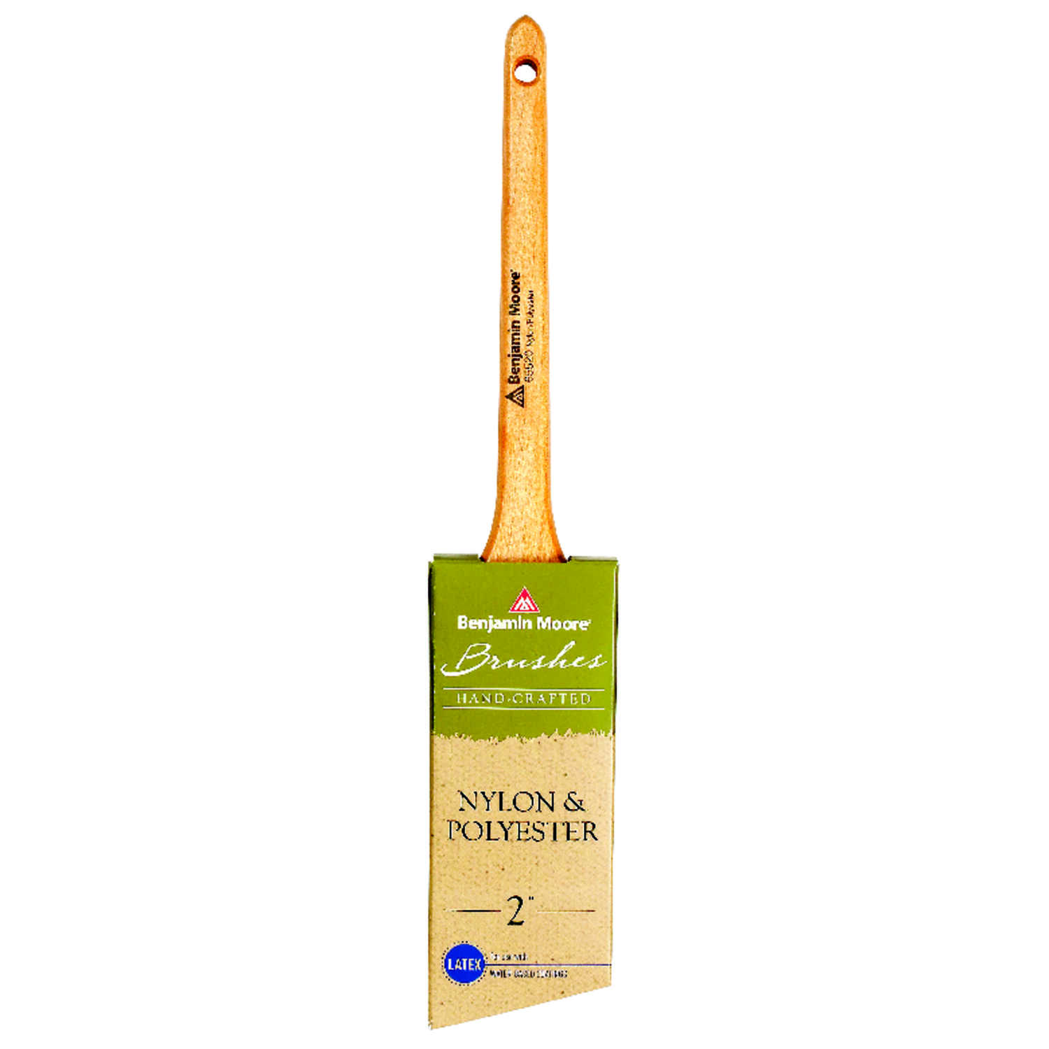 Benjamin Moore  2 in. W Angle  Nylon Polyester  Paint Brush