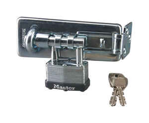 Master Lock  Bright  Laminated Steel  4-1/2 in. L Hasp and Padlock  1