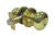 Faultless Mushroom Polished Brass Metal Entry Knobs 3 Right Handed
