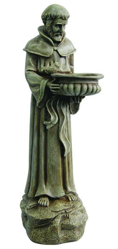Le Power  Polyresin  St. Francis  26 in. Outdoor Statue