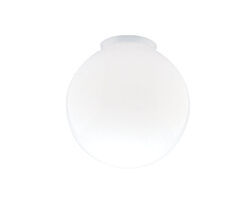 Westinghouse  Round  White  Glass  Lamp Shade  1 pk