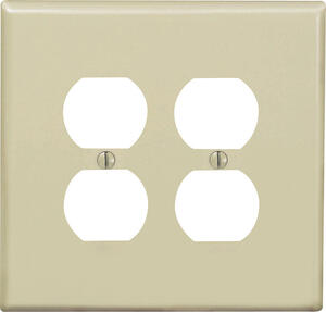 Leviton  Midway  Ivory  2 gang Nylon  Duplex Outlet  Wall Plate  1 pk