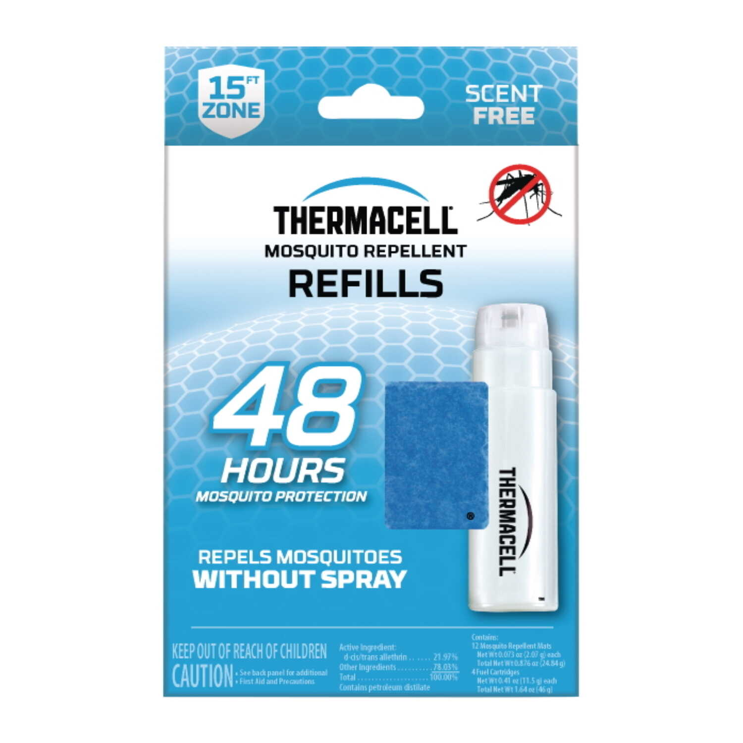 Thermacell  Insect Repellent Refill  Cartridge  For Mosquitoes 0.4 oz.