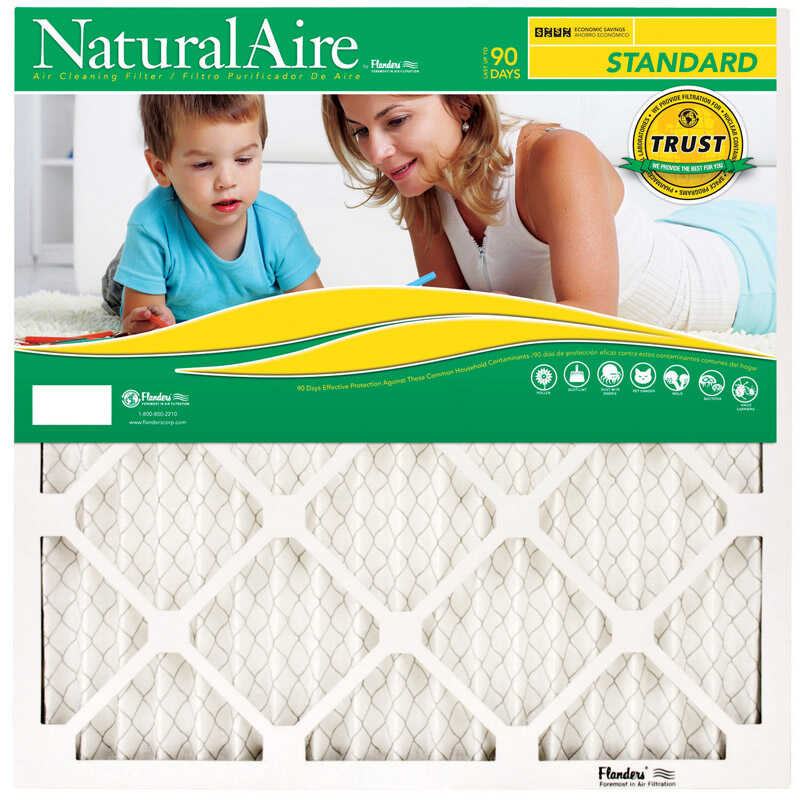 Flanders  NaturalAire  10 in. W x 30 in. H x 1 in. D Pleated  Pleated Air Filter