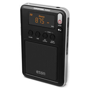 Eton  Black  Digital  Battery Operated  Weather Radio