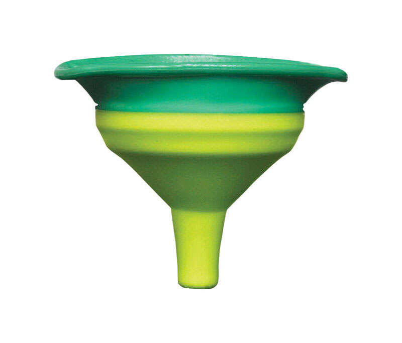 Squish  2-3/4 in. W x 3-1/2 in. L Turquoise/Green  Mini Collapsible Funnel