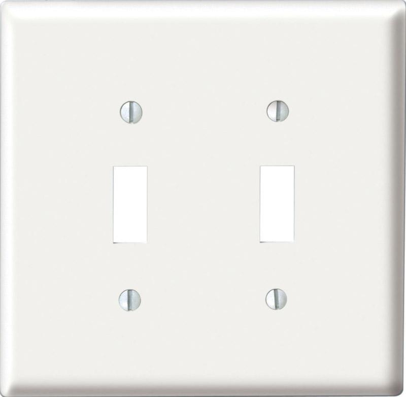 Leviton Midway White 2 gang Toggle Wall Plate Nylon 1 pk - Ace Hardware