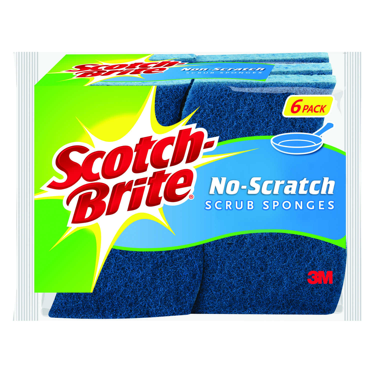 Scotch-Brite  Non-Scratch  Sponge  For Multi-Purpose 4.4 in. L 6 pk