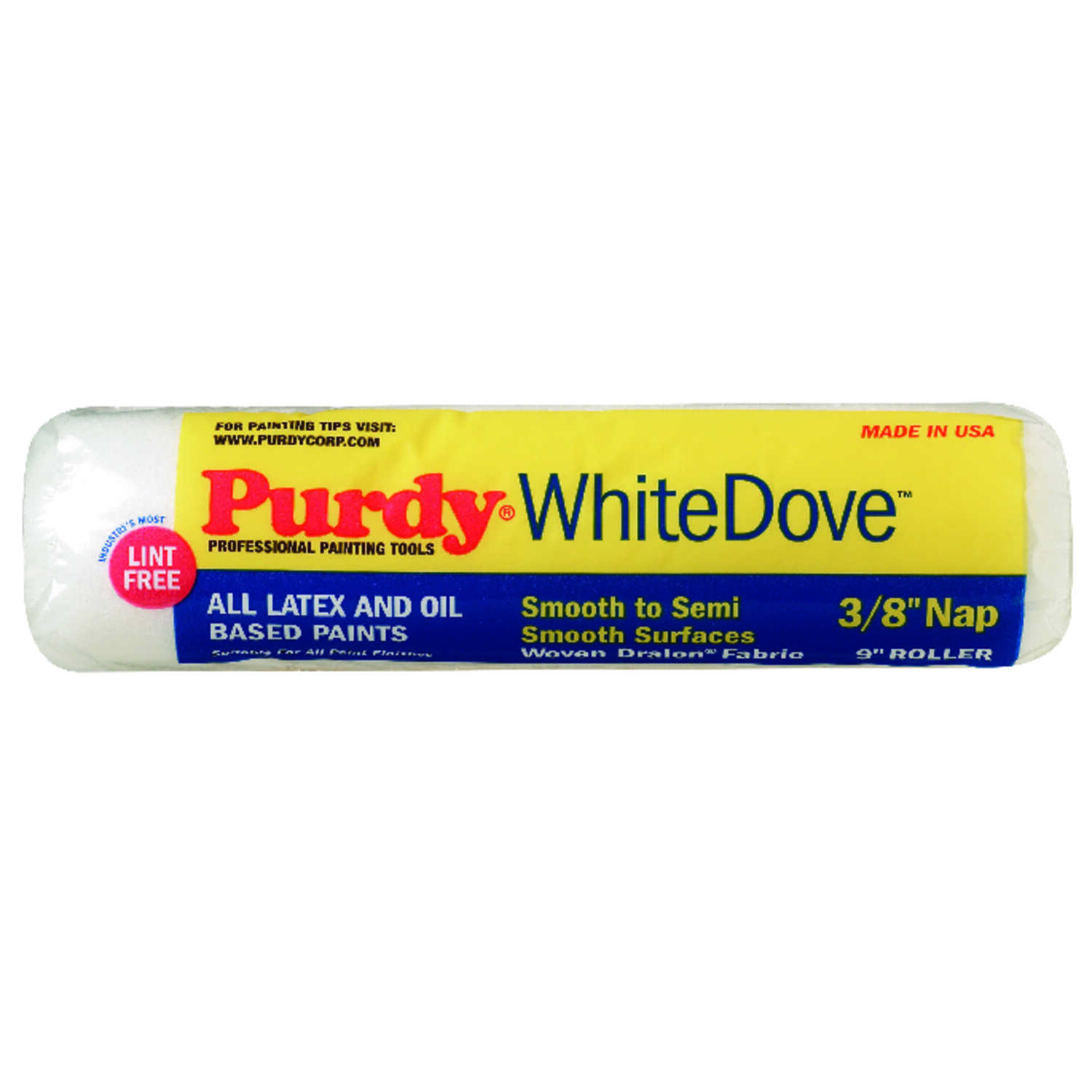 Purdy  White Dove  Dralon  3/8 in.  x 9 in. W Paint Roller Cover  For Smooth to Semi Smooth Surfaces