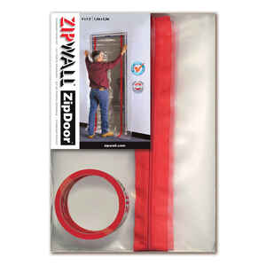 Zipwall  ZipDoor  4 ft. W x 7 in. L Clear  Plastic  Door Kit