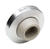 Ives  2-1/2 in. H x 2-1/2 in. W x 3/8 in. L Stainless Steel  Satin  Wall Door Stop  Mounts to wall