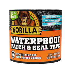 Gorilla  4 in. W x 10 ft. L Black  Waterproof Repair Tape