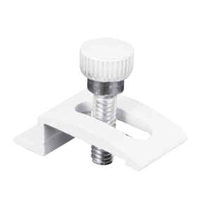 Prime-Line  Aluminum  White  For 1/4 8 pk Storm Door Clip