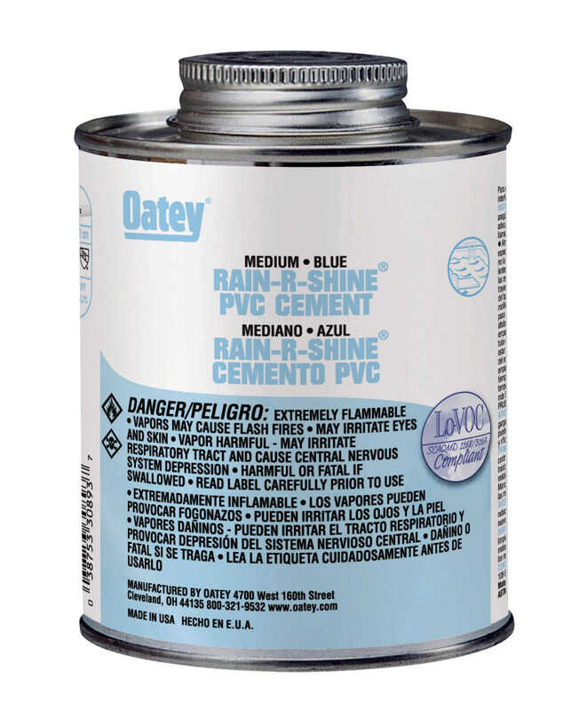 Oatey  Rain-R-Shine  Cement  For PVC 8 oz. Blue
