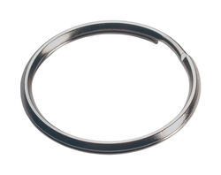 Hillman 1-1/2 in. Dia. Tempered Steel Silver Split Rings/Cable Rings Key Ring