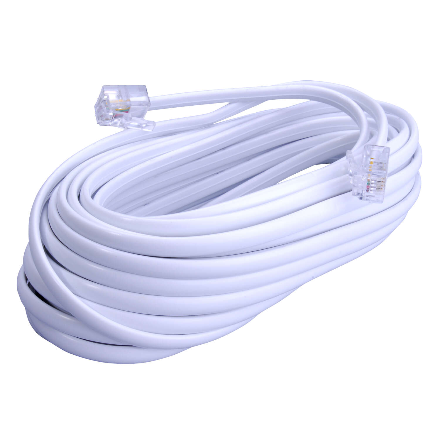 Monster Cable  50 ft. L Modular Telephone Line Cable  White