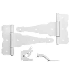 National Hardware  Decorative  8 in. L White  Steel  Gate Hardware Kit  1 pk