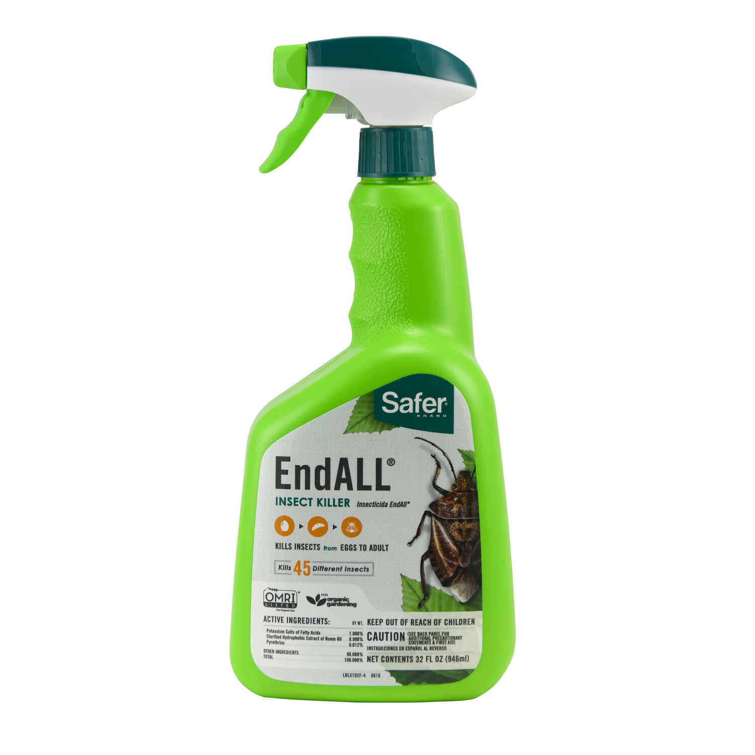 Safer Brand  EndALL  Organic Insect Killer  32 oz.