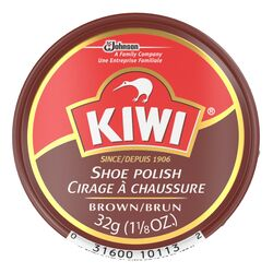 Kiwi  Brown  Shoe Polish  1-1/8 oz.