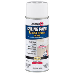 Zinsser  Flat  Bright White  Water-Based  Ceiling Paint and Primer in One  Interior  13 oz.