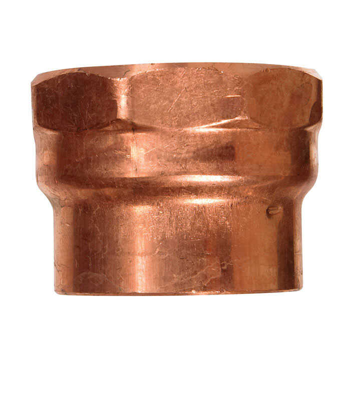 Elkhart  2 in. Copper   x 2 in. Dia. FPT  Copper  DWV Pipe Adapter