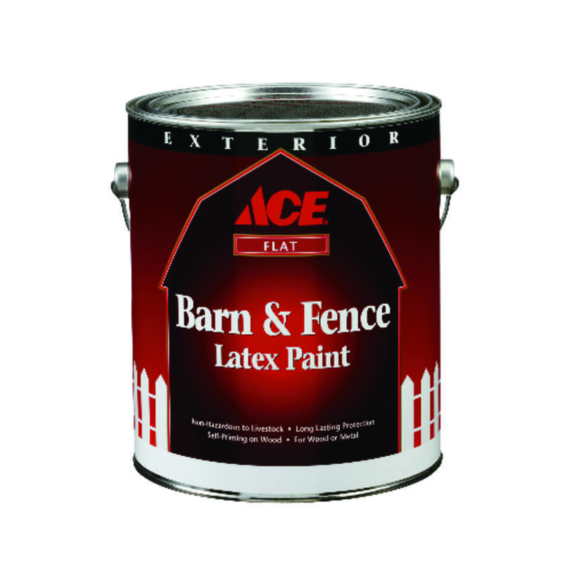 Ace  Flat  Barn Red  Water-Based  Latex  Barn and Fence Paint  1 gal.