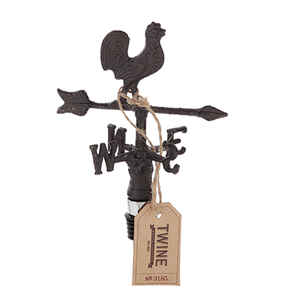 Twine  Rustic Farmhouse  Brown  Wrought Iron  Bottle Stopper