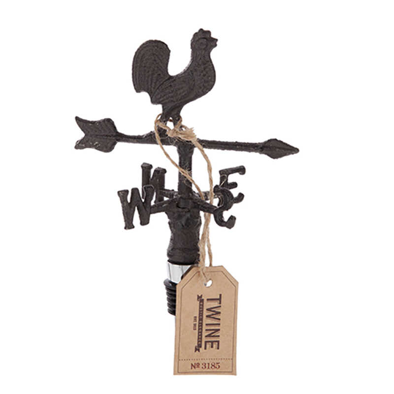 Twine  Rustic Farmhouse  Brown  Bottle Stopper  Wrought Iron