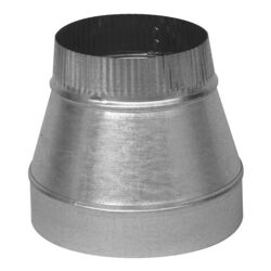 Imperial  6 in. Dia. x 5 in. Dia. Galvanized Steel  Furnace Pipe Reducer
