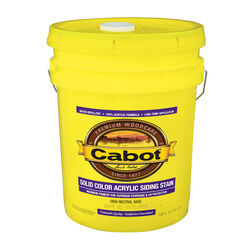Cabot  Solid  Tintable Neutral Base  Water-Based  Acrylic  Siding Stain  5 gal.