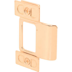 Prime-Line  2.75 in. H x 1.25 in. L Polished Brass  Brass  Door Strike