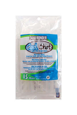 Surebonder  0.27 in. Dia. x 4 in. L Cool Shot  Mini Glue Sticks  Clear  15 pk
