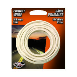 Coleman Cable  24 ft. 16 Ga. Primary Wire  White