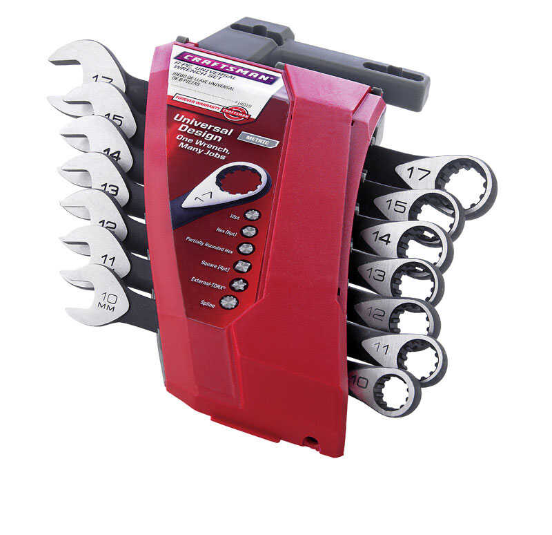 Craftsman  17 in. L Metric  Wrench Set  7 pc.