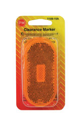 Peterson  Amber  Oblong  Clearance/Side Marker  Light Replacement Lens