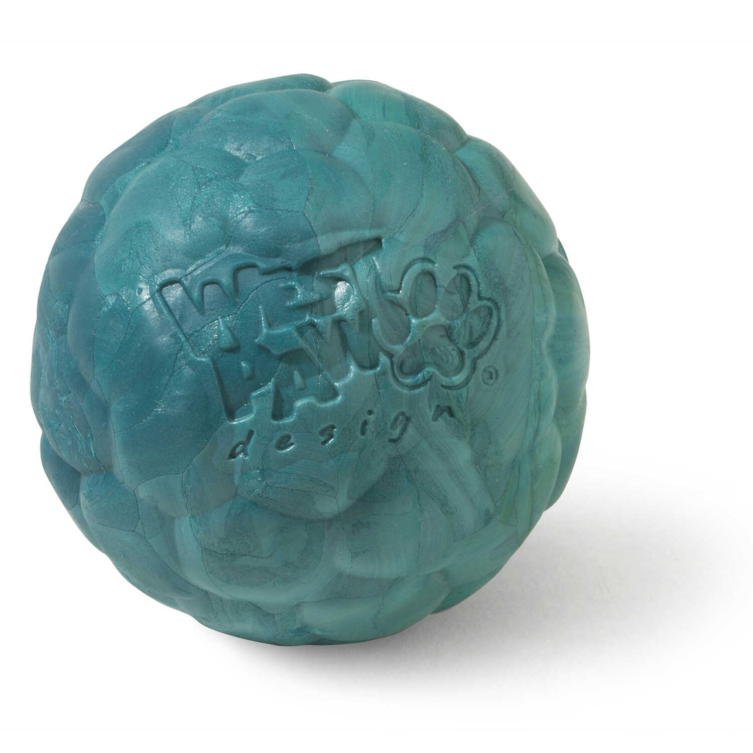 West Paw  Zogoflex Air  Blue  Boz  Synthetic Rubber  Ball Dog Toy  Small