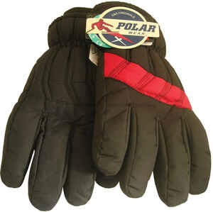 Max Force  Winter  Assorted  Polyester  Ski  Black  Gloves