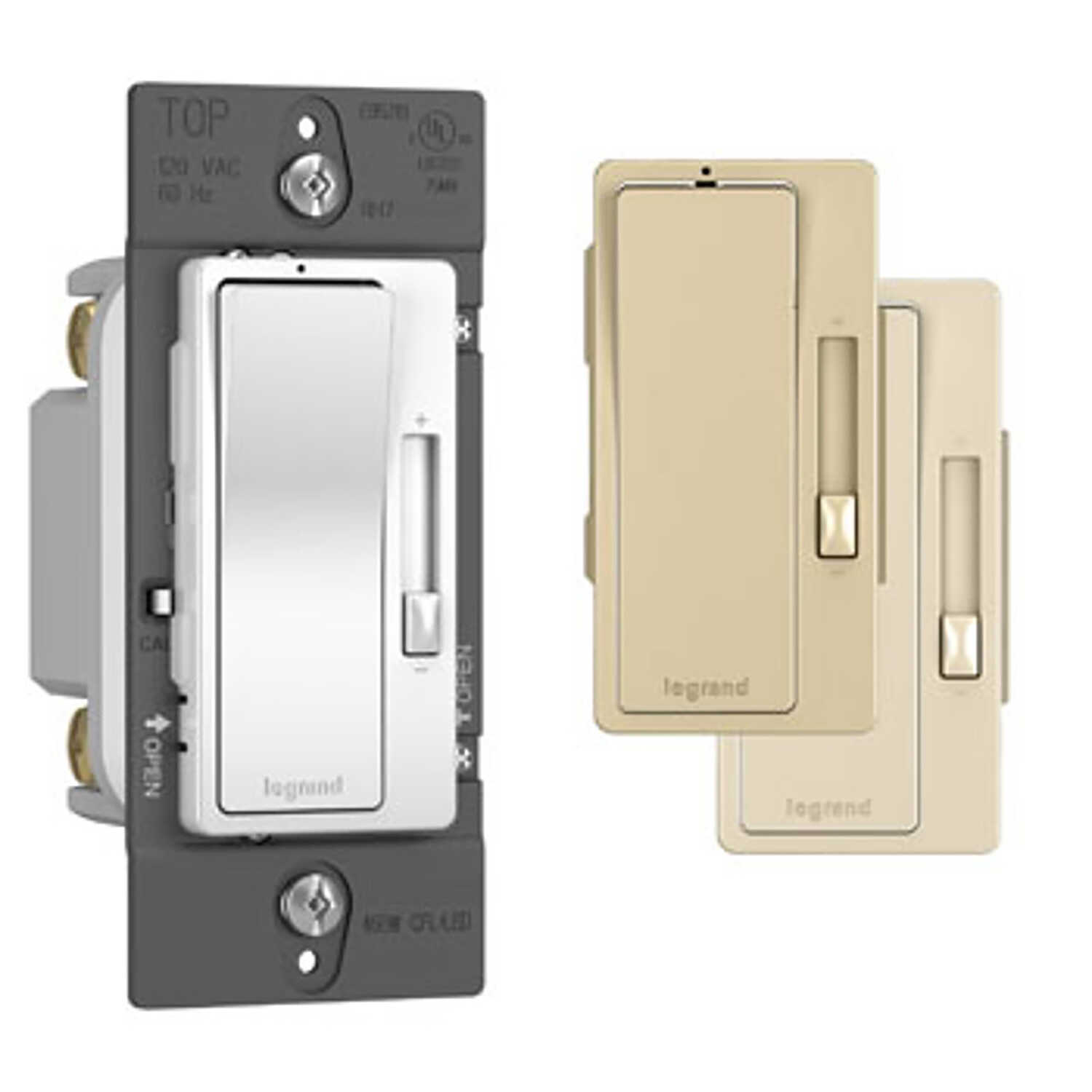 Legrand  Radiant  Multicolored  700 watts Slide  Dimmer Switch  1 pk